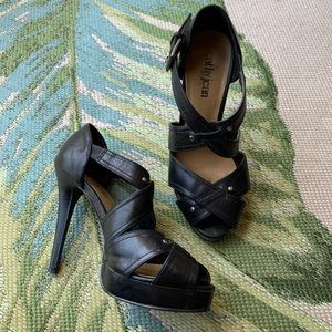 Black Strappy Heels by CATHY JEAN